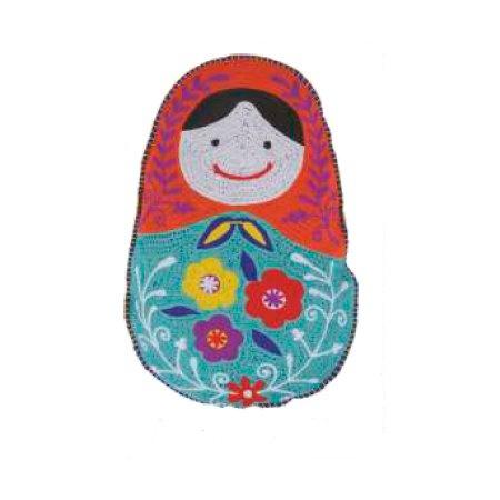 Karma Babushka Throw Pillow Turquoise Red Home Kitchen
