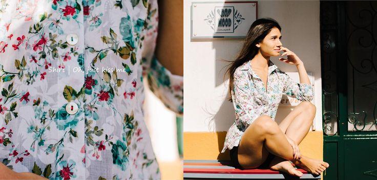 Shirt Oh, just kiss me   Limited edition: only 22 made   100% cotton   Sizes: S & M À vendas nas lojas: Lx Look   Mercadores de Memórias #moda #roupa #mulher #camiseiro #camisa #presente #gift #portugal