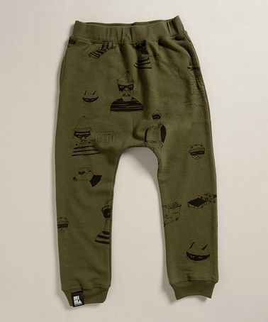Look at this #zulilyfind! Army Green Bandit Pants  - Infant, Toddler & Boys by Mini & Maximus #zulilyfinds