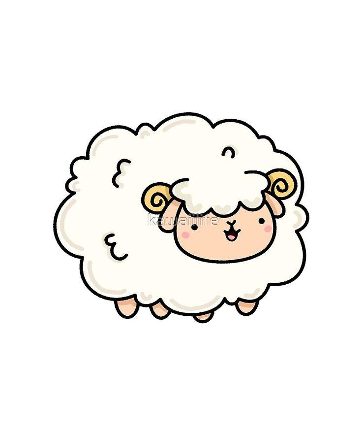 Kawaii Sheep Sticker By Kawaiilife In 2021 Cute Drawings Kawaii Sheep