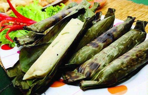 otak-otak , steam fish cake in banana leaf ( Indonesian food )
