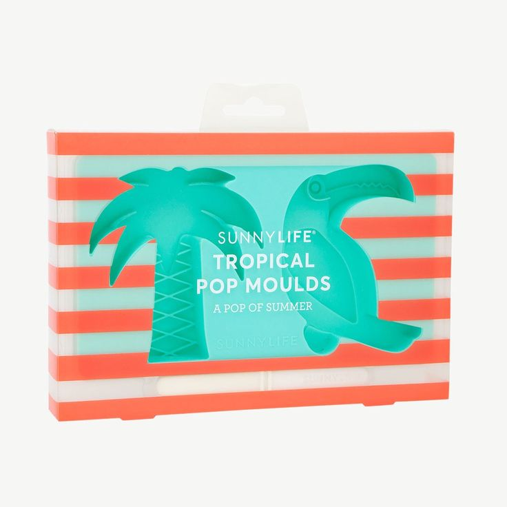 """Sunnylife """"Tropical"""" Turquoise Popsicle Molds"""