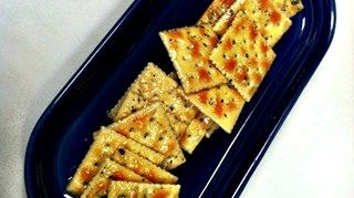 Spice up your plain saltine crackers with ranch dressing mix for a savory twist. Serve with your favorite cheese.