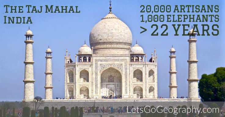 Fun facts about India's Taj Mahal from the homeschool geography curriculum that takes you around the globe.