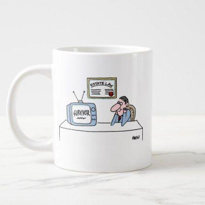 Estate Lawyer Probate Law Cartoon Funny Jumbo Large Coffee Mug - humor funny fun humour humorous gift idea