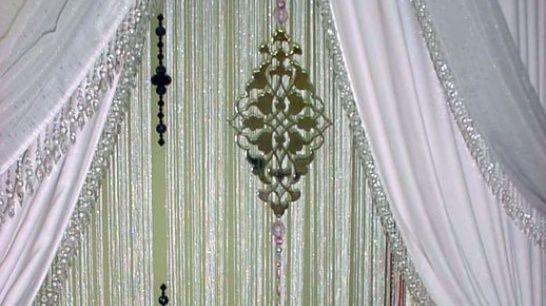 Fadenvorhang als Fensterdekoration, Raumteiler und Sichtschutz http://vorhang.ch/vorhang.html
