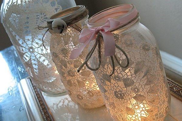 Vintage Windlichter & Teelichter mieten  weddstyle