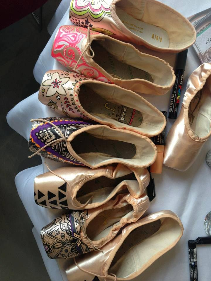 decorate old dance shoes and hang them around the studio – would be a fun tradition