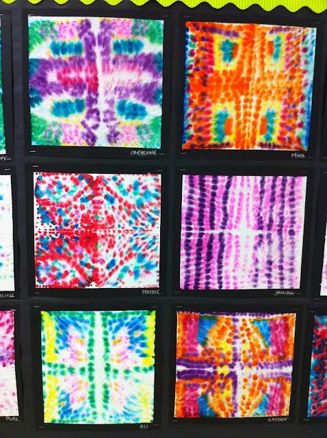 Marker 'Tie-Dye' PaperTowels Apex Elementary Art | Art ...