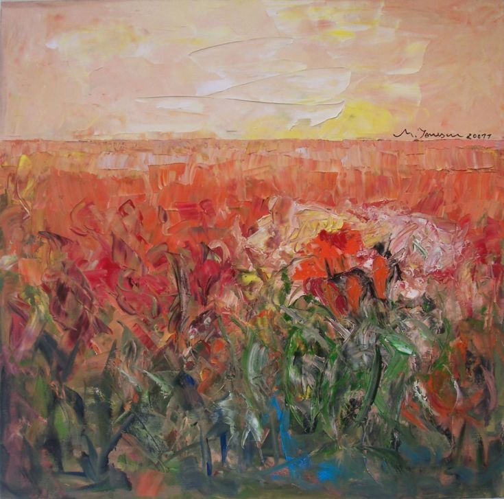 "Buy ""Red Field"", Oil painting by Mihaela Ionescu on Artfinder. Discover thousands of other original paintings, prints, sculptures and photography from independent artists."