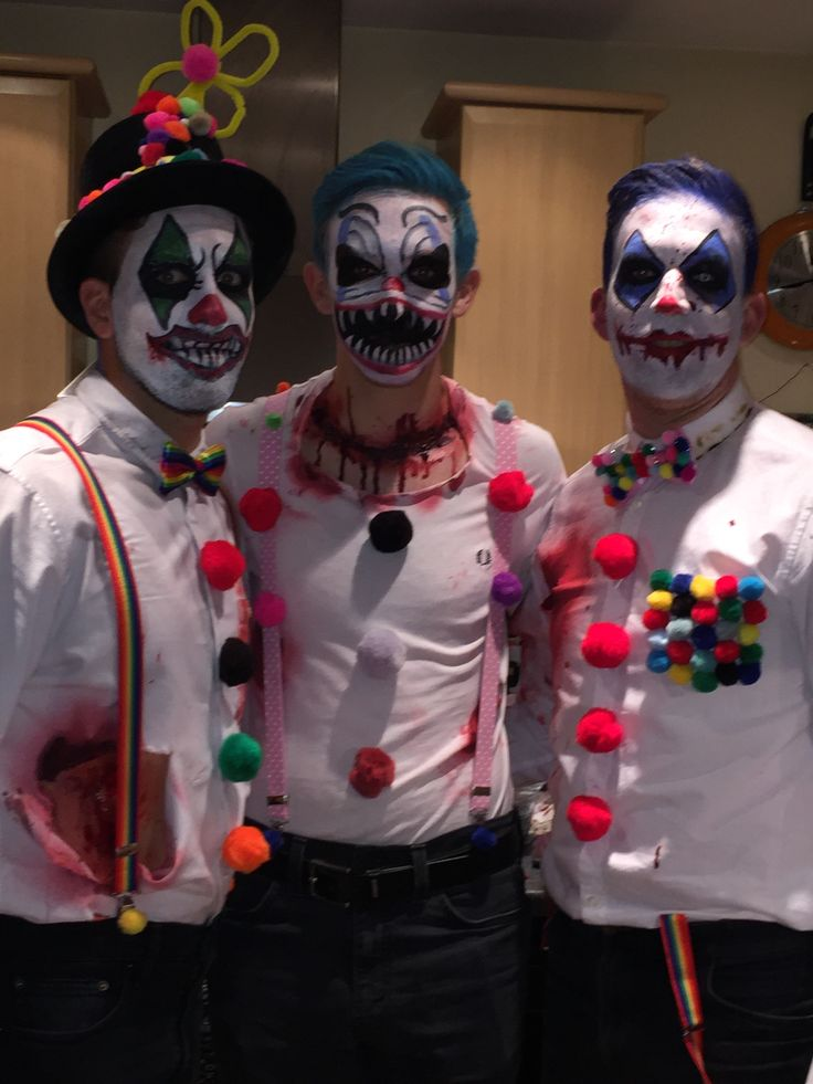 Diy men's scary clown costumes