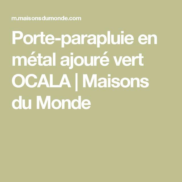 Porte-parapluie en métal ajouré vert OCALA | Maisons du Monde