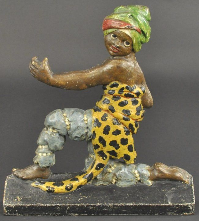 JUNGLE BOY DOORSTOP - 500 Best Door Stops - Vintage Cast Iron Images On Pinterest Door