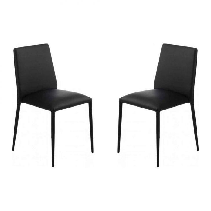 Kit de 2 Cadeiras Para Sala de Jantar Auguste Preto
