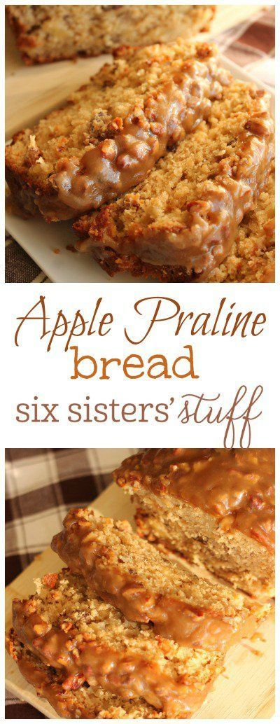 Apple Praline Bread from Six Sisters' Stuff | A delicious moist apple bread with a praline topping that is out of this world!