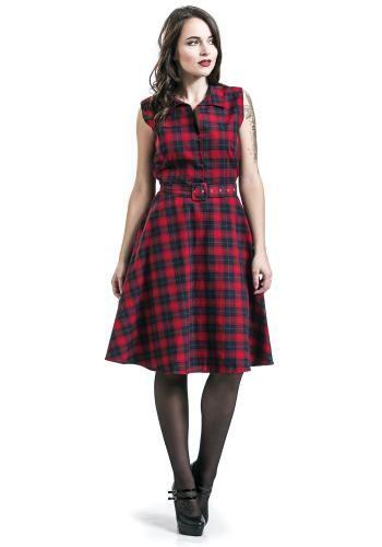Tartan Dress - Mittellanges Kleid von Dolly and Dotty
