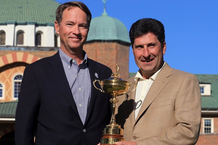 2012 Ryder Cup captains Love and Olazabal