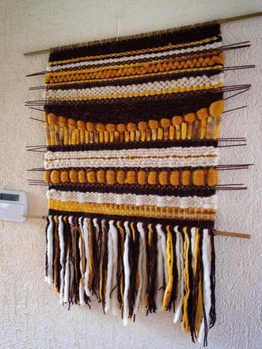 Handmade Woven Tapestry Wall Hanging by WovenHomeArt on Etsy, $200.00
