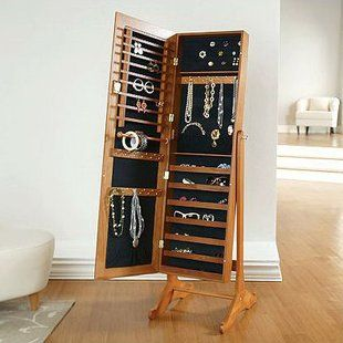 Best Of Over the Door Jewelry Armoire Mirror Cabinet Qvc