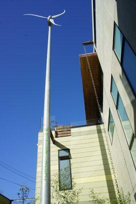 Wind turbine in central San Francisco.
