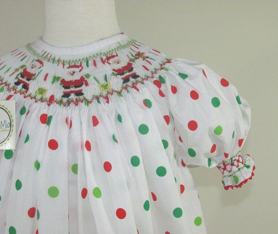 Adorable smocked Christmas dress