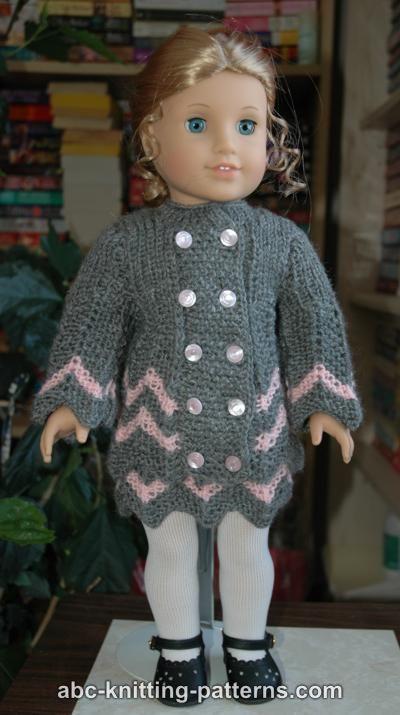 American Girl Doll Chevron Jacket