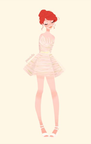 When Freddie feels a bit more feminine (or her maids force her into this dress)