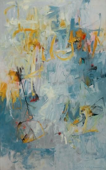 "Karen Scharer, Partly Cloudy 48""x 30"""