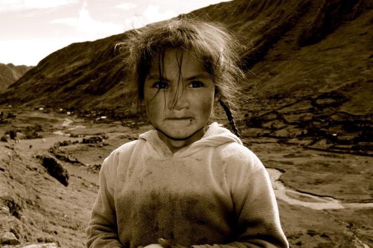 Village girl, 5 day Lares Trek Peru