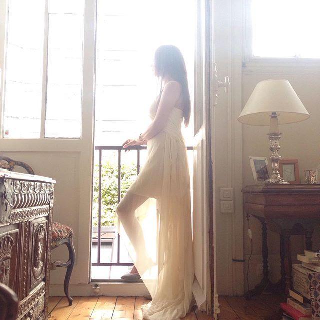 The Athena, looking ethereal in Paris last week. #elikainlove #paris #weddings #bridal #vancouverbridal #etsy #editorial    #Regram via @elika.in.love