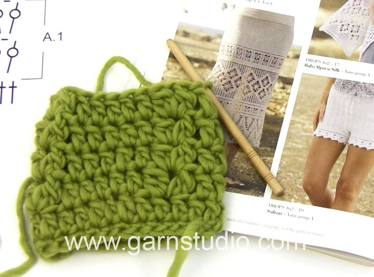 DROPS Crocheting Tutorial: How to work A.1 in DROPS 162-19