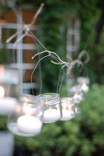 Lights on a string.