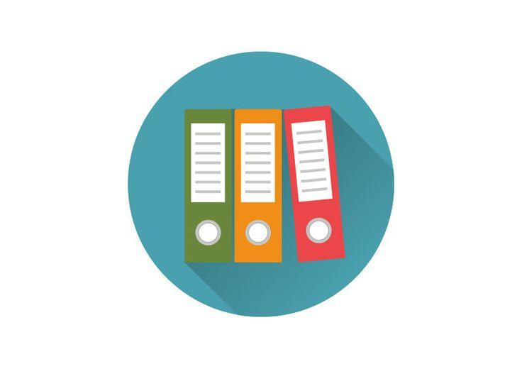 Office Folders Flat Icon