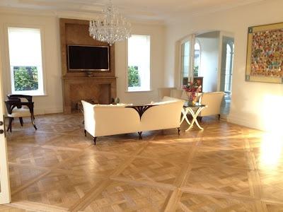 Houten vloer in versailles patroon inspiratie bvo vloeren Ambienti interni moderni