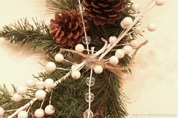 burlap christmas wreath 6
