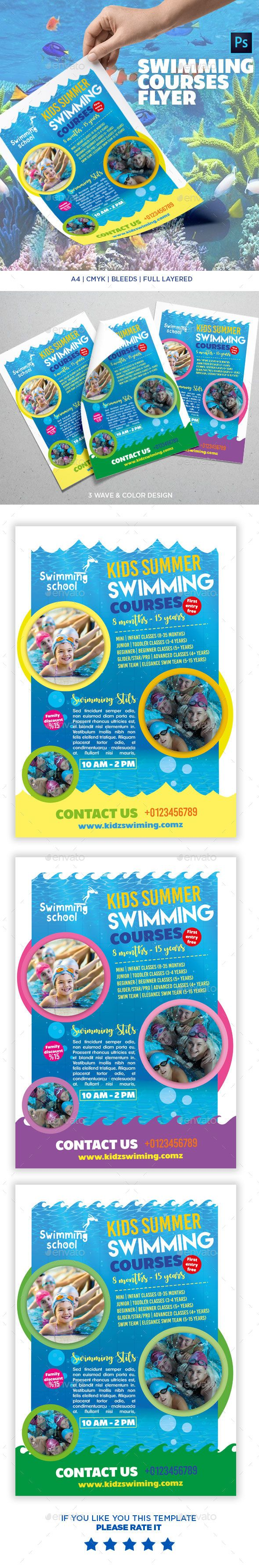 Swimming Course #Flyer Template - Commerce Flyers Download here: https://graphicriver.net/item/swimming-course-flyer-template/20109721?ref=alena994