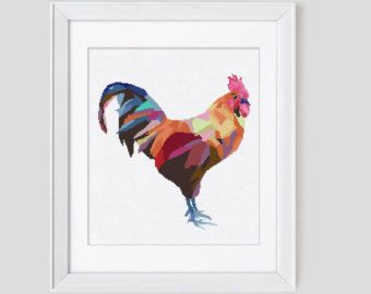 Cross Stitch Pattern Blue & Gold Macaw by Leafblowndesigns