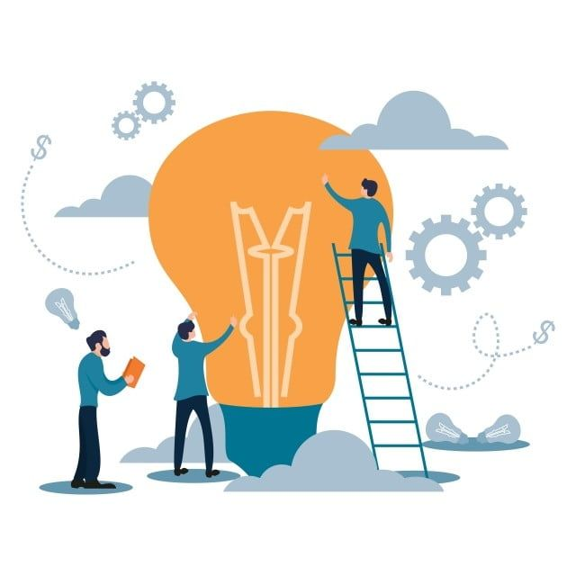 Vector Illustration Business Target Team Work With Light Bulb Flat Cartoon Style Symbol Business Flat Png And Vector With Transparent Background For Free Dow Cartoon Styles Vector Illustration Teamwork