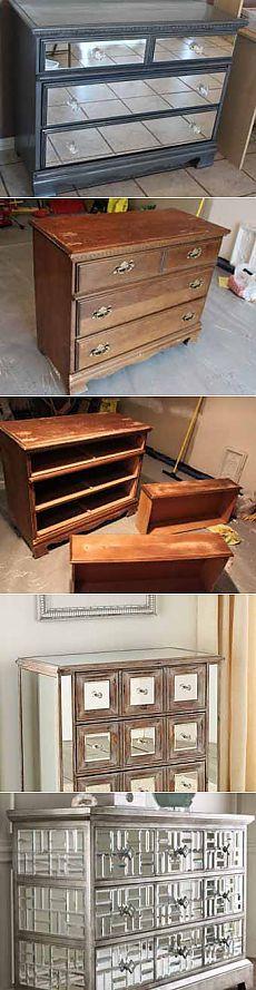 Реставрация мебели своими руками мастер-класс: делаем зеркальный комод.