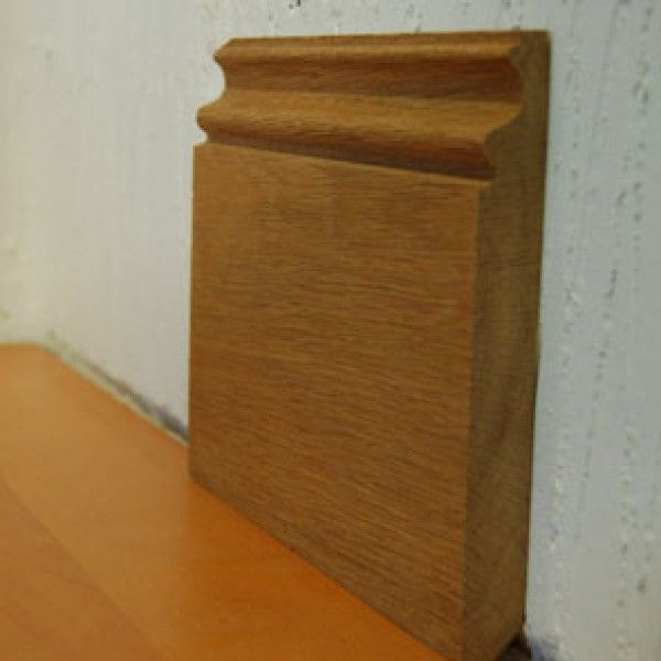 SK120 | Solid Unfinished Oak Ogee Skirting Board