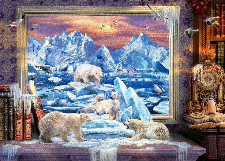 Arctic Ice Bears Jigsaw by Art to Life (HOL098392, 1000 pcs) | Jigsaws Delivered: Aussie Puzzle Shop