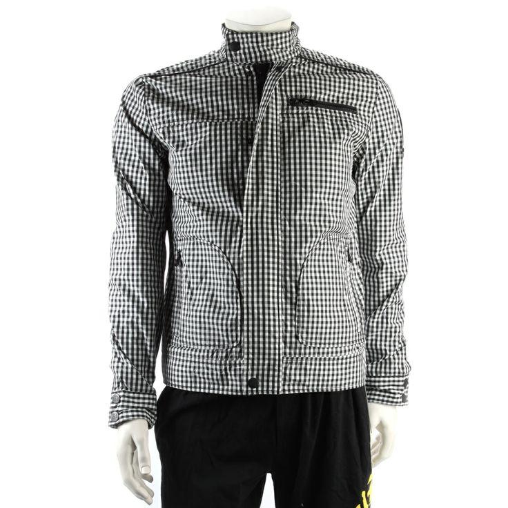 Ed Hardy Mens Windbreaker Jacket – Black/White