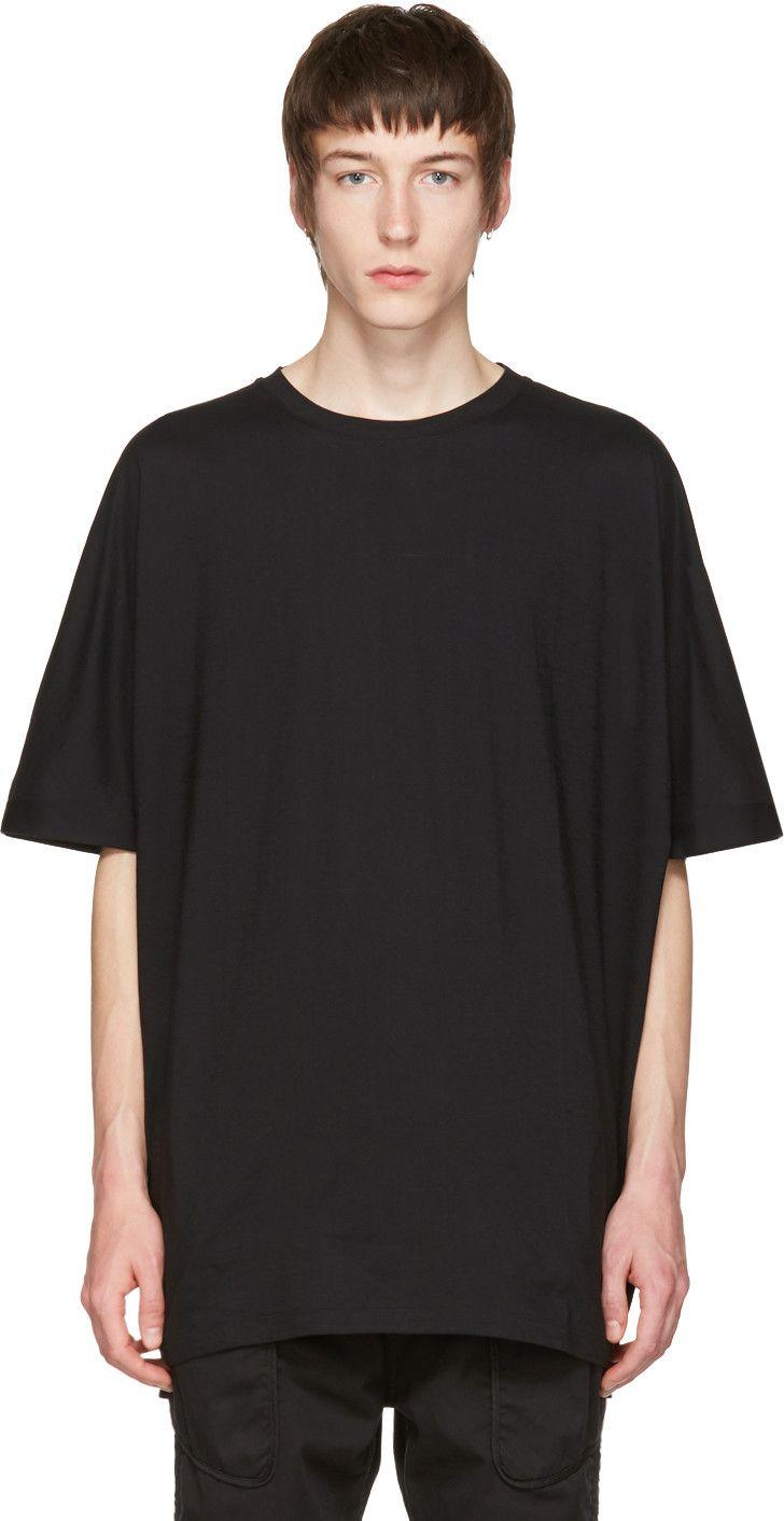 HELMUT LANG Black Uni Sleeve T-Shirt. #helmutlang #cloth #t-shirt