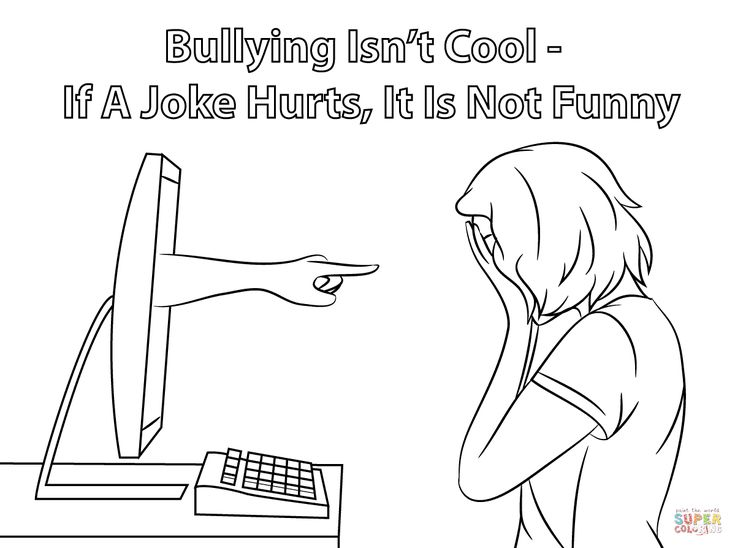 cyber bullying coloring page from anti bullying category select from 28356 printable crafts of cartoons nature animals bible and many more