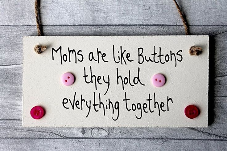 MadeAt94 Handmade Moms Are Like Buttons Sign Personalized