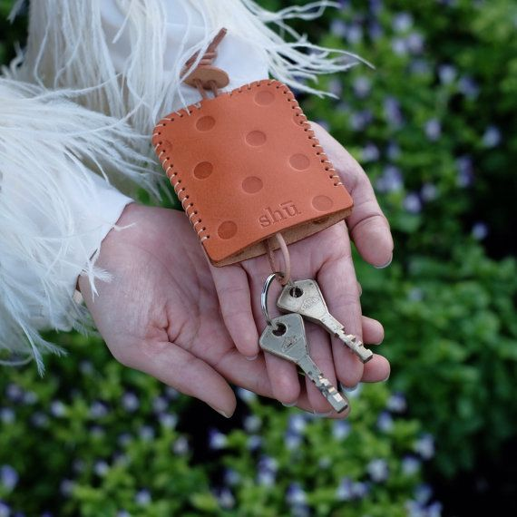 Leather Polkadot Key Holder key bag key case by ShuLeatherWorks