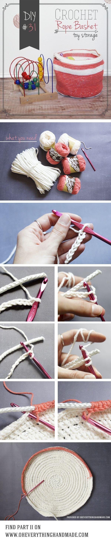 DIY // Crochet Rope Toy Storage Basket | Oh Everything Handmade Part I