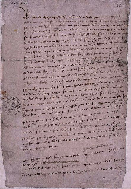 """Yours as long as life endures..."" This is the only surviving letter from Katherine Howard, Henry VIII's fifth wife. She wrote this ill-advised letter to Thomas Culpepper, a gentleman of her husband's Privy Chamber."