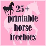 Round-up of 25 printable horse and pony themed freebies - Pferde - freebies | MeinLilaPark – DIY printables and downloads