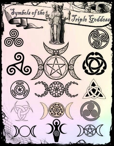 The Goddess Trinity - Child, Woman, Crone... Birth, Life, Death... We women encompass the cycle of life within our bodies